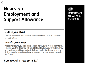 How to claim Employment and Support Allowance (ESA)