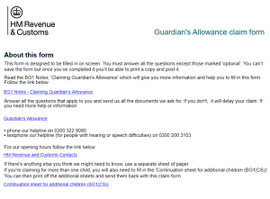 How to Claim Guardian's Allowance